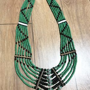 Naga Necklace with Green Beads1