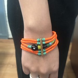 Rootsandleisure_Shop_Naga_Jewellery_Bracelet_Orange