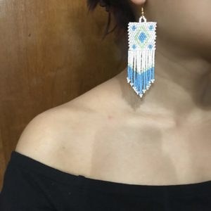 Rootsandleisure_Shop_Naga_Jewellery_Necklace_Earring_BlueWhite